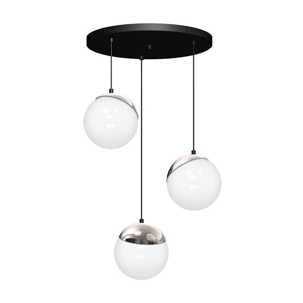 Chrome Hanging Lamp Sphere 3x E14