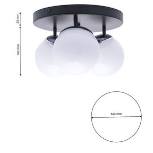 Chrome Ceiling Lamp Sfera 3x E14 small 6