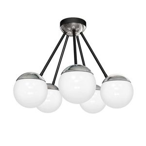 Chrome Ceiling Lamp Sfera 5x E14 small 0