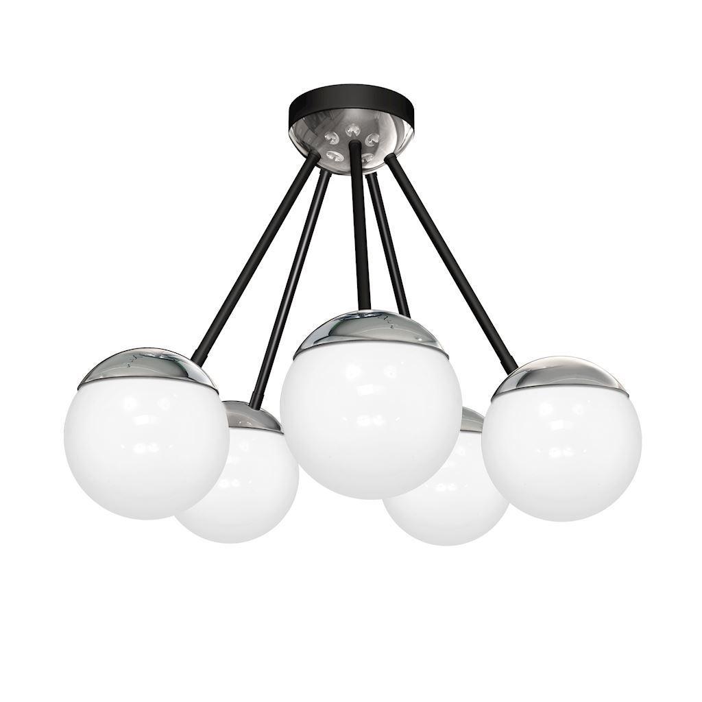 Chrome Ceiling Lamp Sfera 5x E14