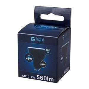 Black LED Bulb 7W Gu10. Color: Warm small 3