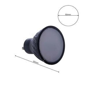Black LED Bulb 7W Gu10. Color: Warm small 4