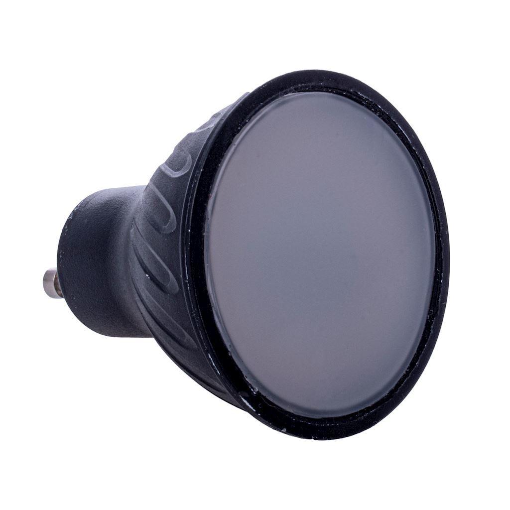 Black LED Bulb 7W Gu10. Color: Warm