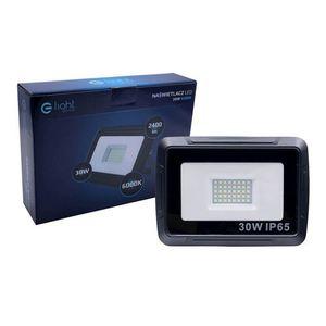 Black LED floodlight 30W. Color: 6000K IP65 small 1