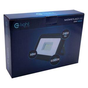 Black LED floodlight 30W. Color: 6000K IP65 small 4