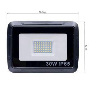 Black LED floodlight 30W. Color: 6000K IP65 small 5