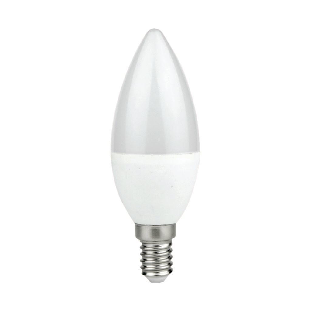 Led bulb 7 W E14 C37 candle. Color: Neutral