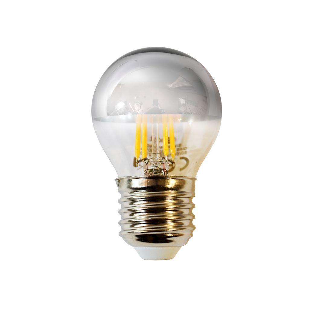 4 W G45 E27 Silver Led Filament Bulb