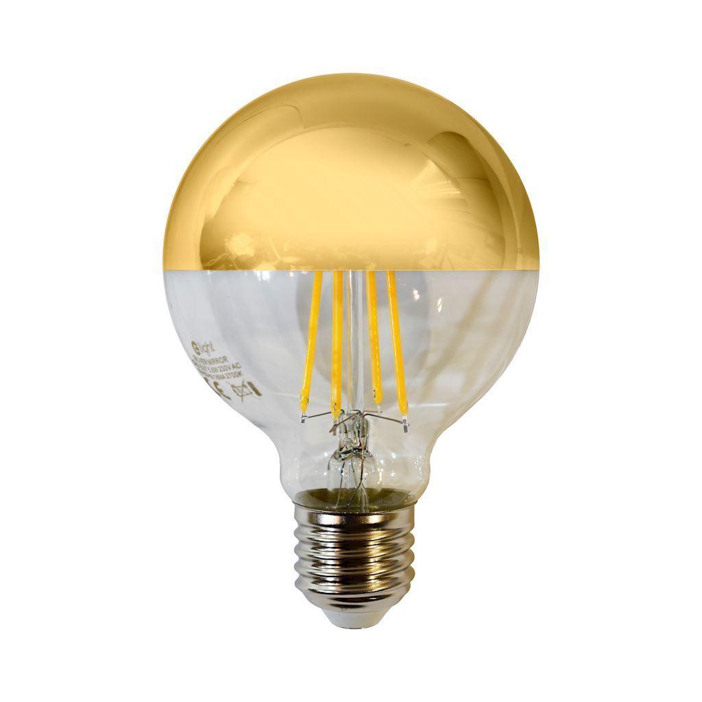 Filament bulb Led 5.5 W G80 E27 Gold