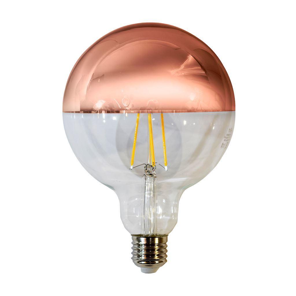 7.5 W LED Filament Bulb G125 E27 Golden Rose