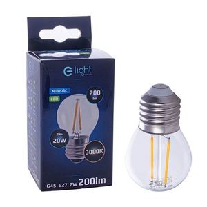 2 W E27 G45 2700K LED Filament Bulb small 1