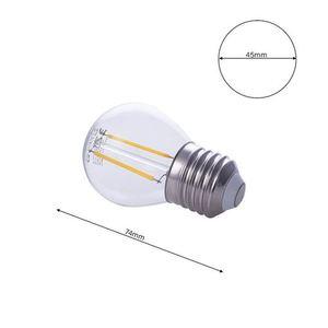 2 W E27 G45 2700K LED Filament Bulb small 5