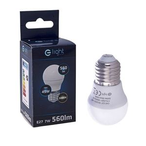 7 W E27 G45 Led Bulb. Color: Warm small 2
