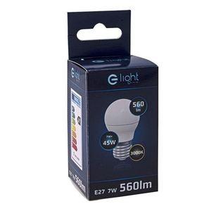 7 W E27 G45 Led Bulb. Color: Warm small 3