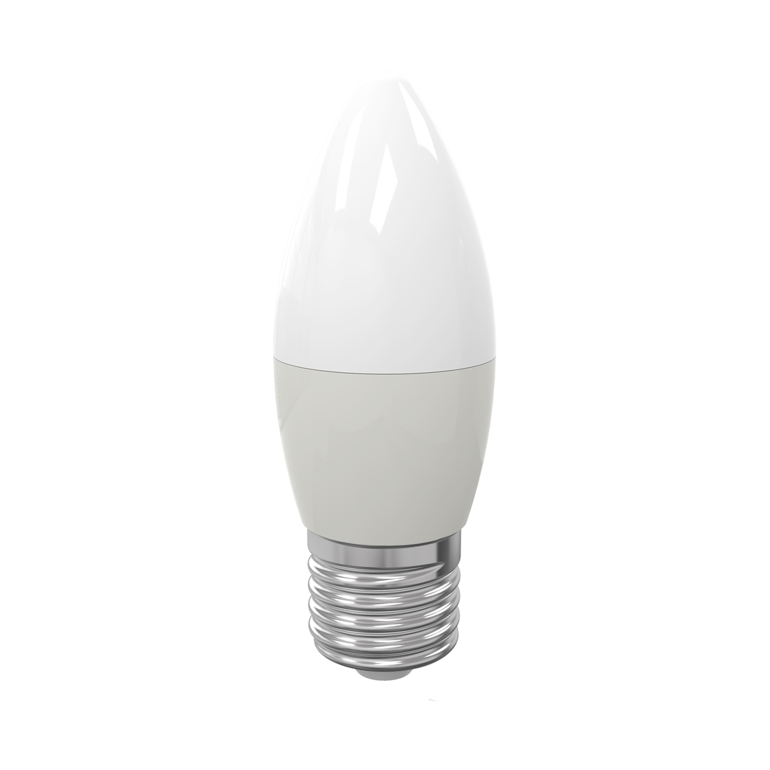 Led bulb 7 W E27 C37. Color: Warm
