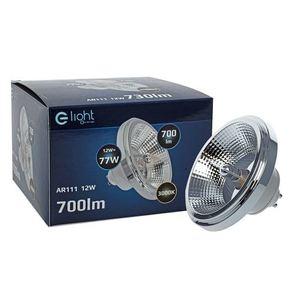 Bulb Ar111 12 W Gu10 3000 K / White With reflector small 3