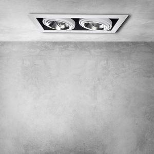 Plaza 2x Gu10 Ar111 recessed white luminaire small 5