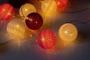 Multicolor LED Cotton Balls 20 Pcs. small 3