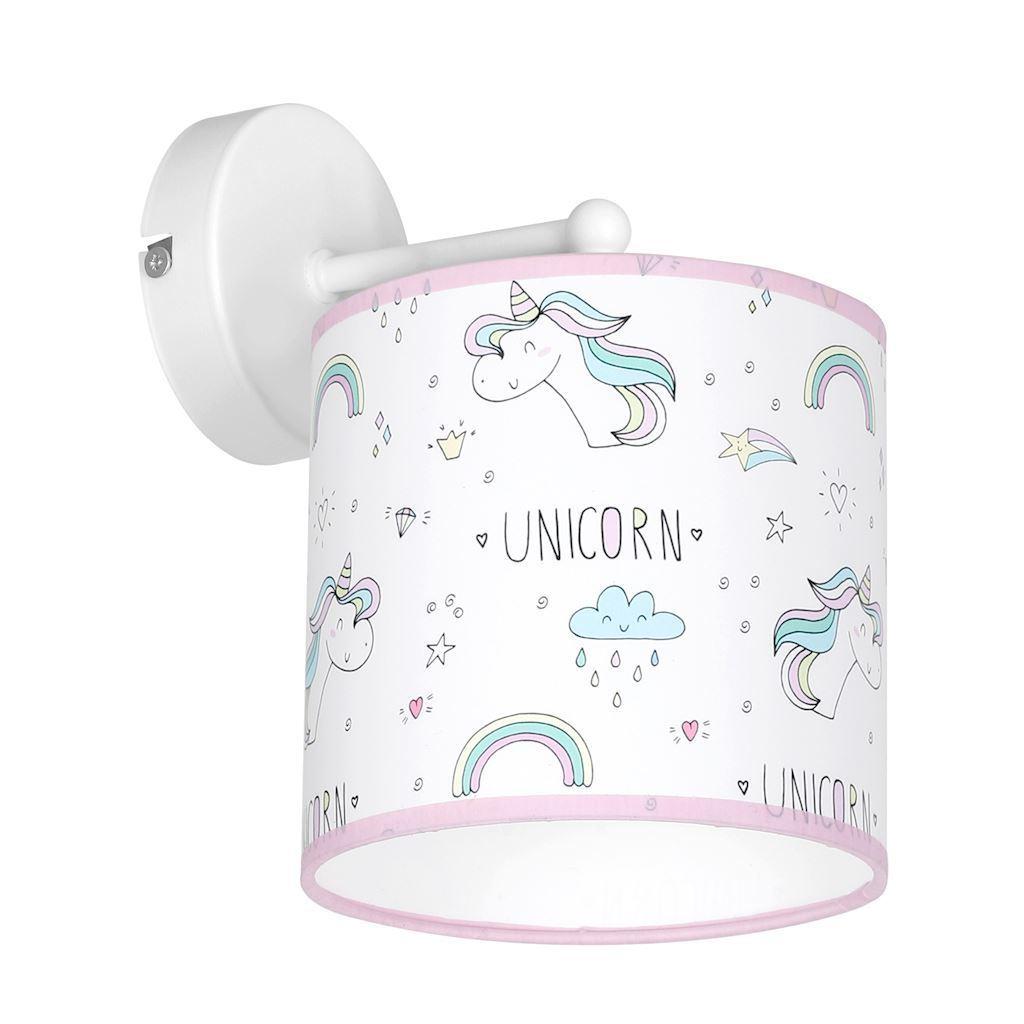 Multicolor Wall Lamp Unicorn 1x E27