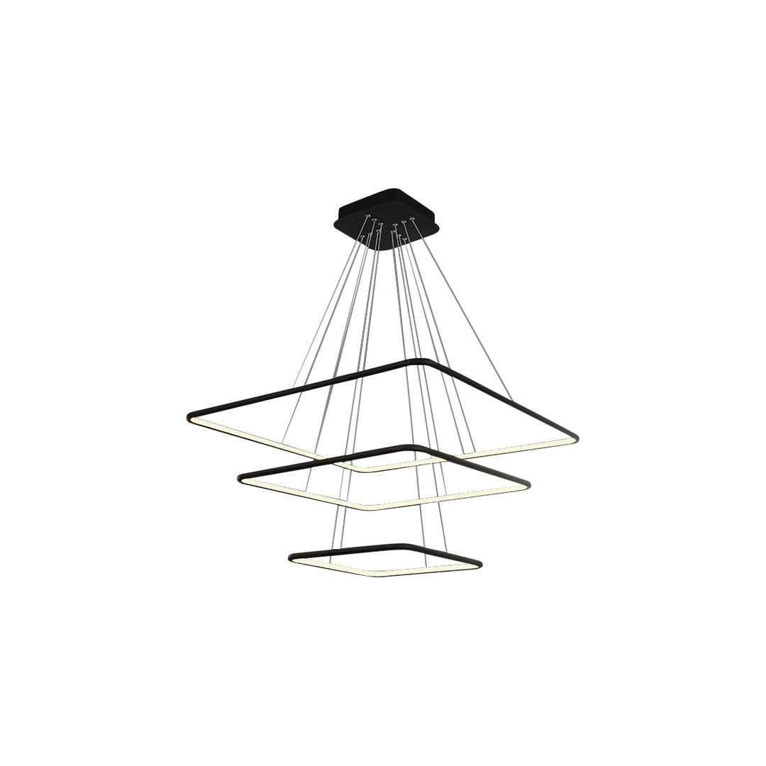 Black Pendant Lamp Nix Black 117 W Led. Color: Neutral