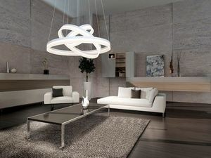 White 114 W Led Ring Pendant Lamp. Color: Warm small 1