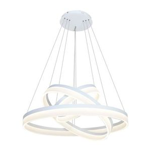 White 114 W Led Ring Pendant Lamp. Color: Warm small 0