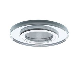 Silver Ceiling Glass Round Eyelet. Silver color small 0