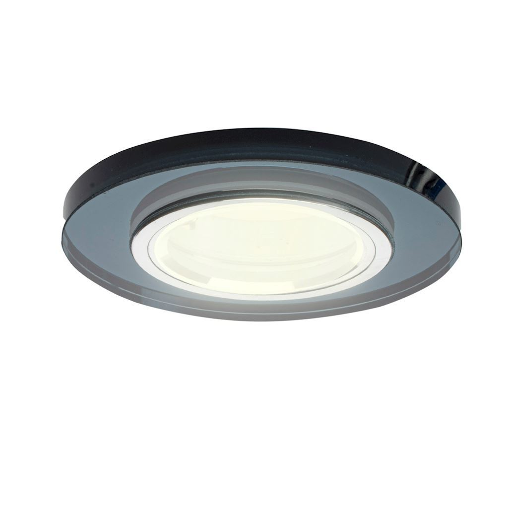 Black Ceiling Ring Glass Round. Black colour