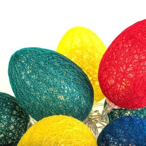 Cotton Colorful LED Easter Eggs small 1