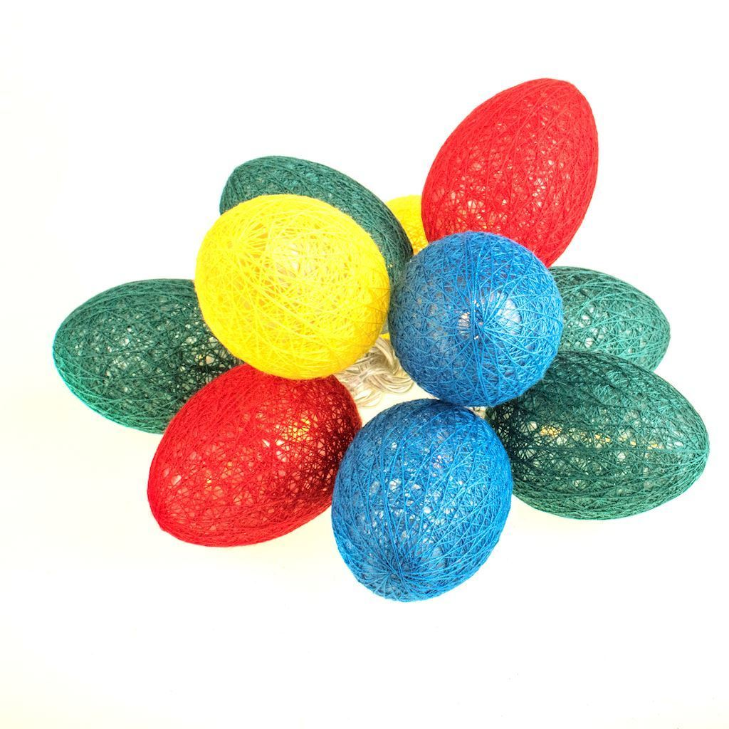 Cotton Colorful LED Easter Eggs