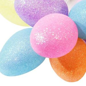 Large Plastic LED Easter Eggs With Glitter Colorful 2 Blue small 1