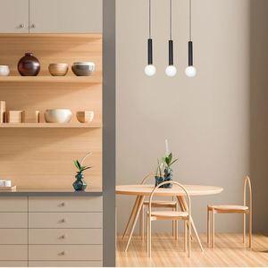 Black Hanging Lamp Auris Black 3x E14 small 2