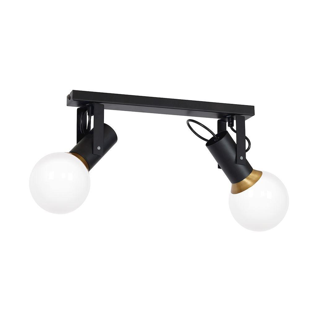 Black Auris Black 2x E14 Ceiling Lamp