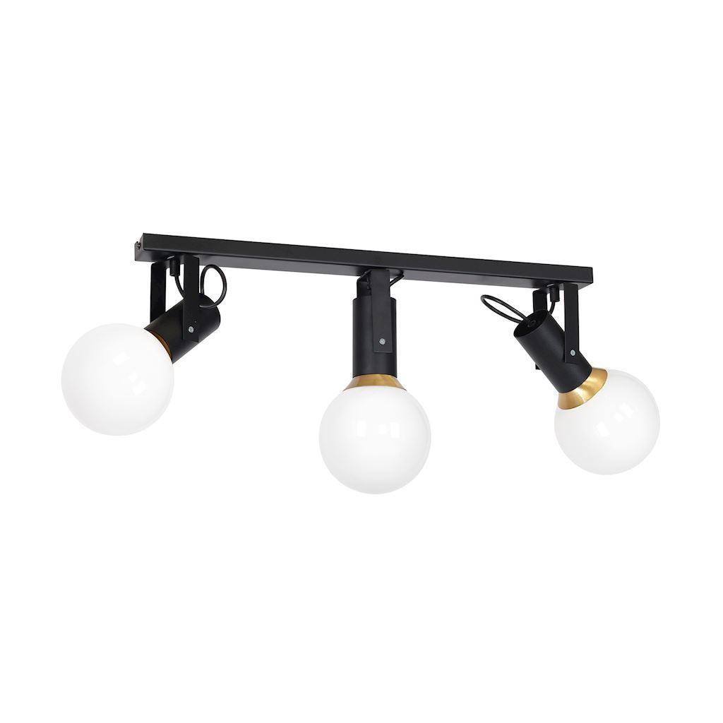 Black Ceiling Lamp Auris Black 3x E14