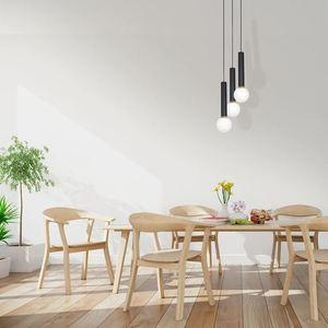 Black Hanging Lamp Auris Black 3x E14 small 1