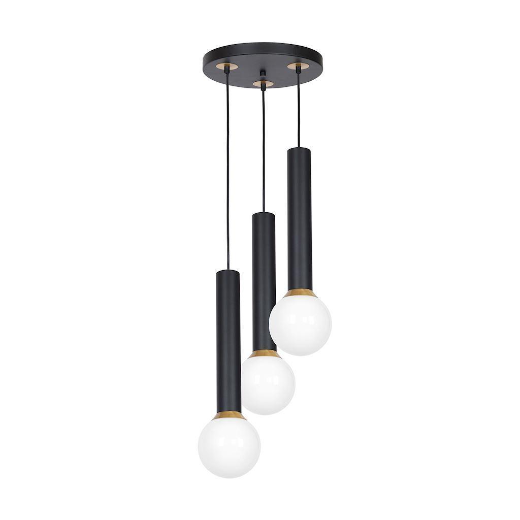Black Hanging Lamp Auris Black 3x E14