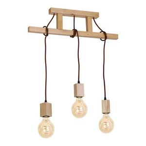 Wood Hanging Lamp Jack 3x E27 small 0