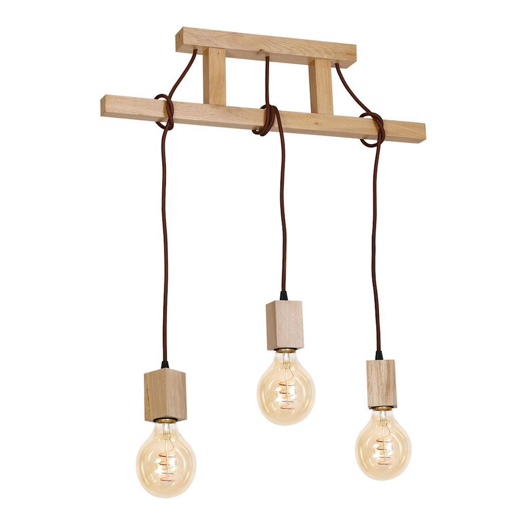 Wood Hanging Lamp Jack 3x E27