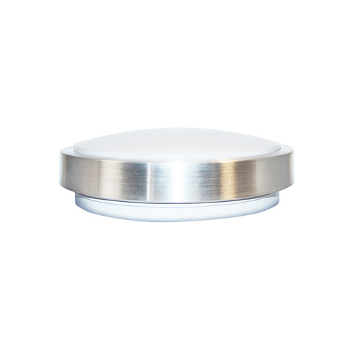 Gray Led Ceiling Lamp With Motion Sensor 18 W 4000 K Silver Ip65 Pir IP65