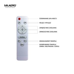 White Vela 24 W LED dimmable ceiling lamp + remote control small 2