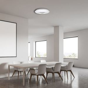 White Vela 24 W LED dimmable ceiling lamp + remote control small 5