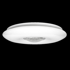 White Vela 24 W LED dimmable ceiling lamp + remote control small 8