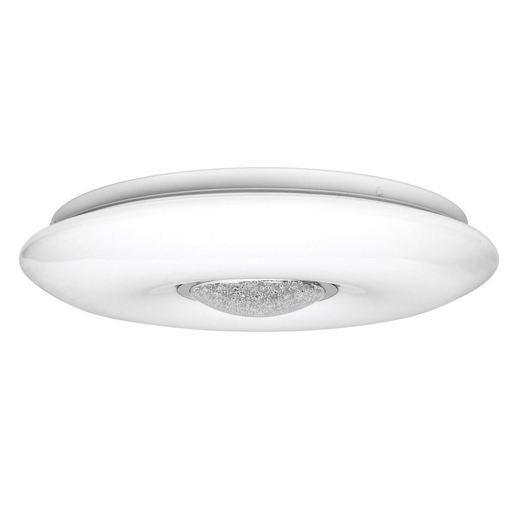 White Vela 24 W LED dimmable ceiling lamp + remote control