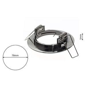 Chrome Eyelet Ceiling Adjustable Basic Motion Brass small 6