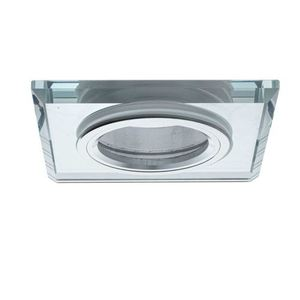 Silver Ceiling Glass Square Eyelet. Silver color small 0