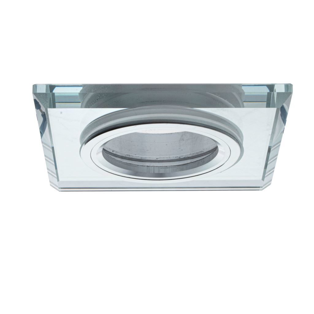 Silver Ceiling Glass Square Eyelet. Silver color