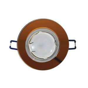 Amber Kit Ceiling Eye Glass Round Amber + 1.5 W Bulb Gu10 Socket small 0