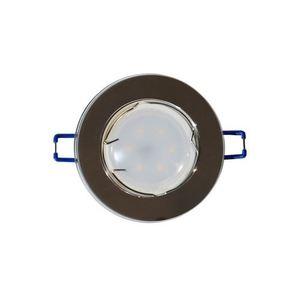 Silver Ceiling Eye Set Glass Round Silver + 1.5 W Bulb Gu10 Socket small 0