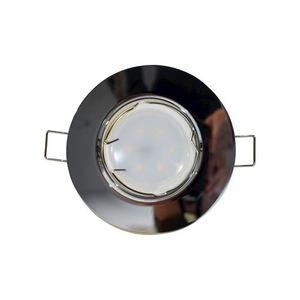 Chrome Ceiling Eye Set Cast Motion + 1.5W Gu10 Bulb Socket small 0