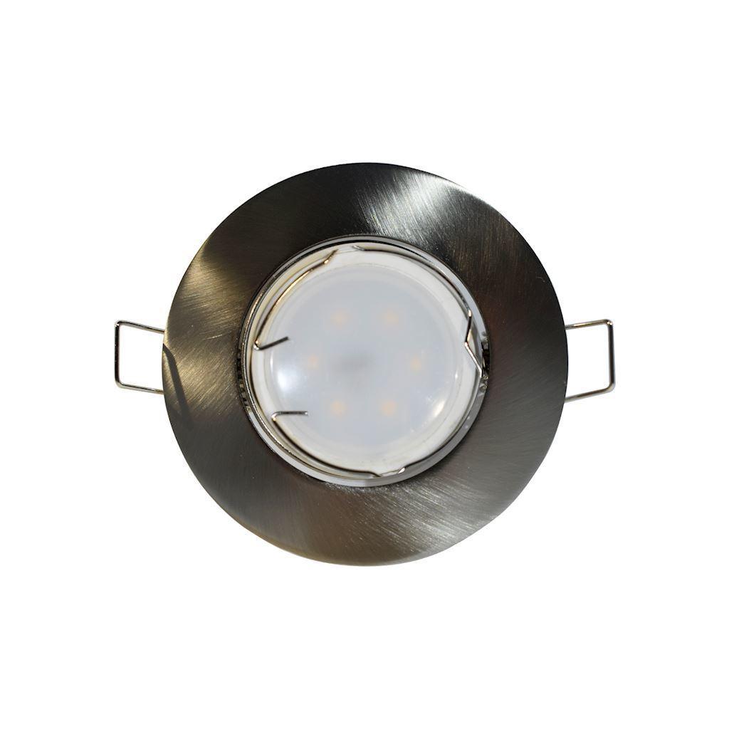 Chrome Ceiling Eye Set Cast Motion Mat + 1.5W Gu10 Bulb Socket